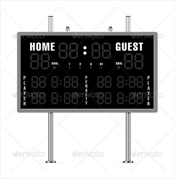 vector eps american football scoreboard template download