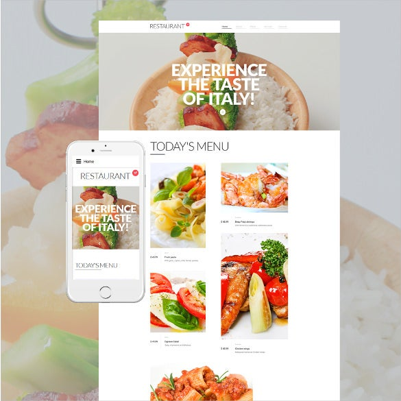 cafe restaurant responsive html5 template