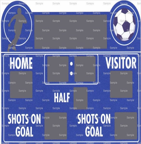 soccer scoreboard template download