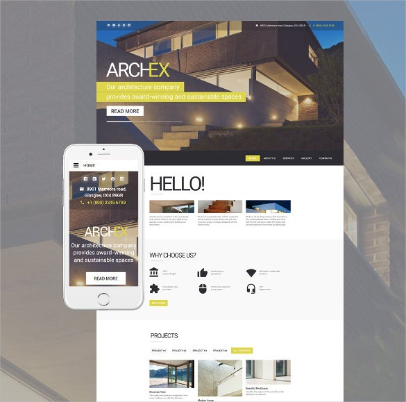 architecture responsive html5 template