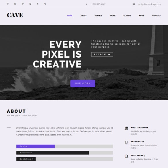 creative multipurpose bootstrap html5 template