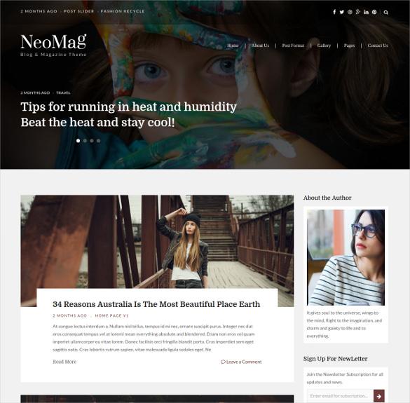 responsive blog magazine wordpress theme
