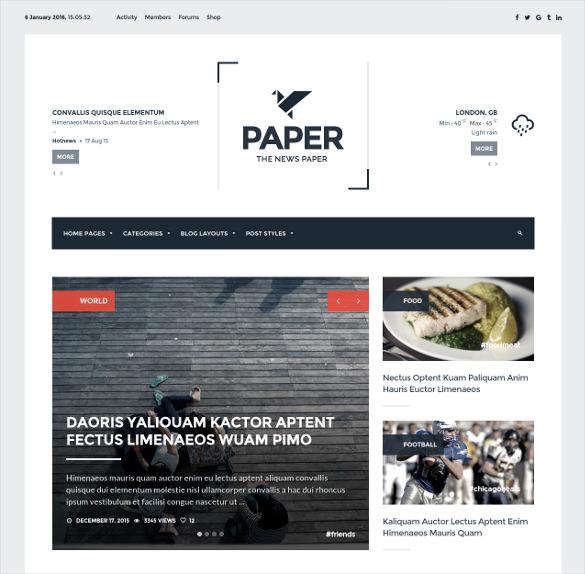 wordpress newspaper magazine blog theme