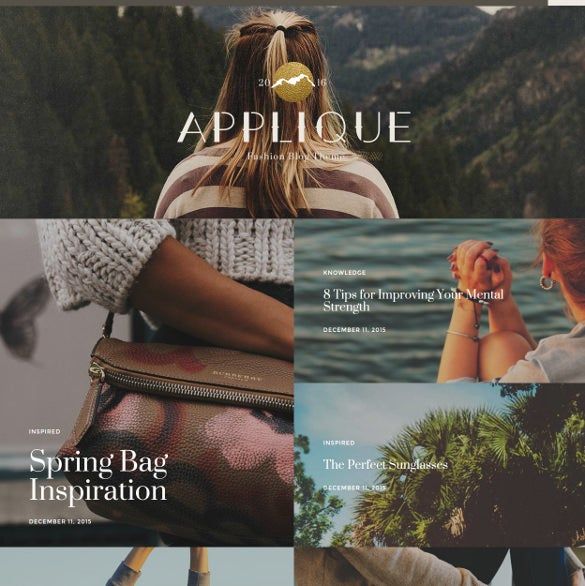 applique fashion blog theme