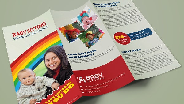 babysitting_a3trifold_brochuretemplate