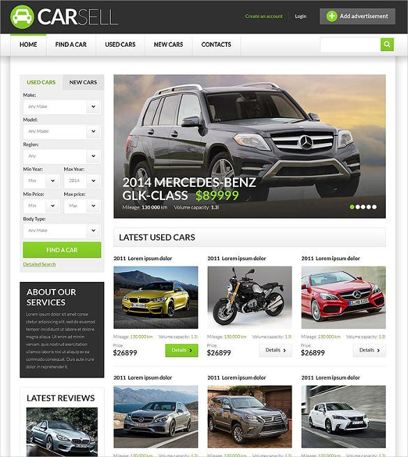 28 Car Dealer Website Themes Templates Free Premium Templates