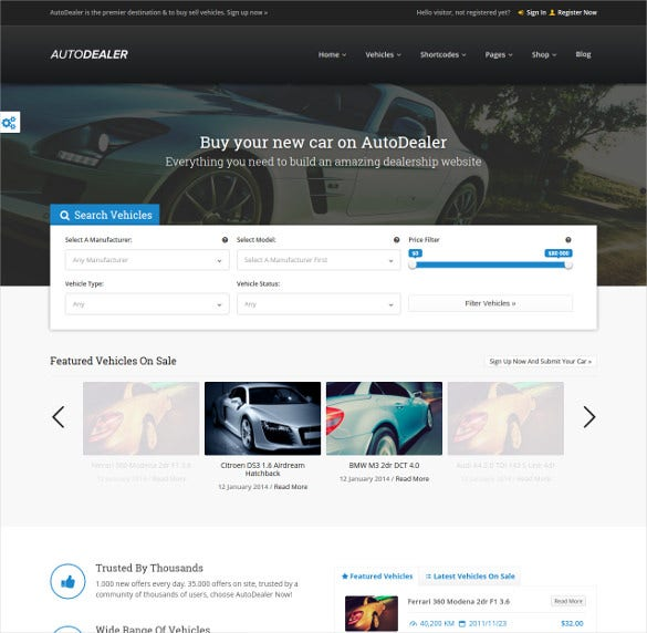 autodealer – car dealer website theme