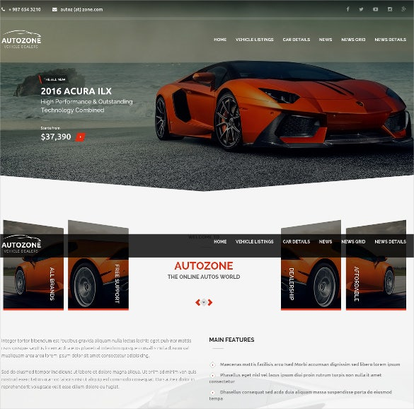autozone car dealer website template