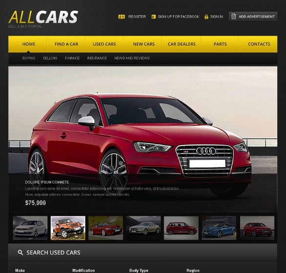how to build a car dealership website