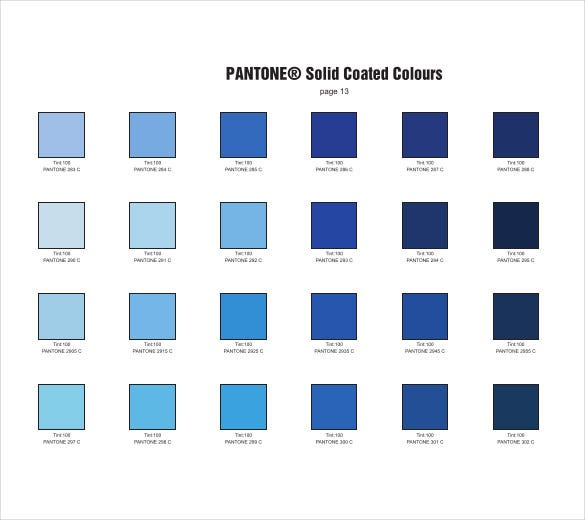 Pantone Color Chart Template - 7+ Free Word, Excel, PDF Documents ...
