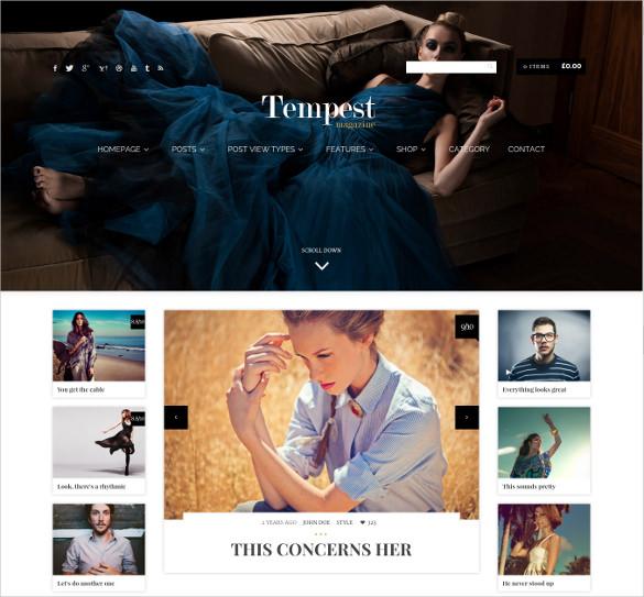 responsive fashion magazine wordpress theme