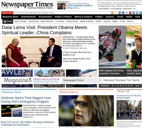 newspapertimes news magazine wordpress theme