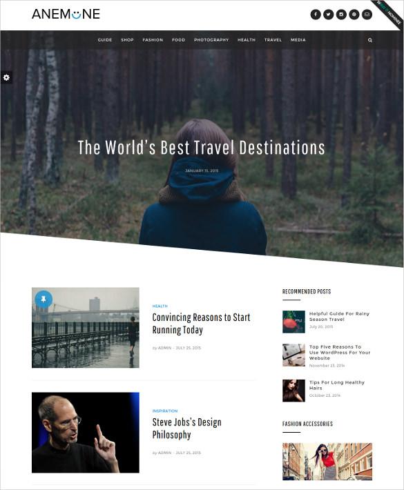 featured responsive magazine wordpress theme