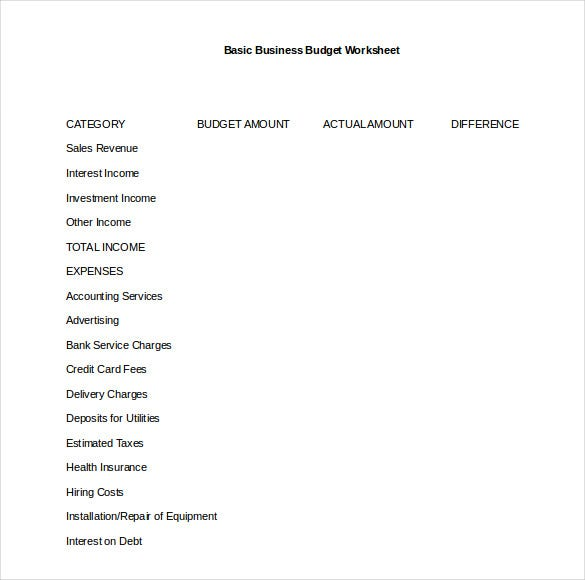 12 simple budget templates free sample example format download simple business budget template word format flashek