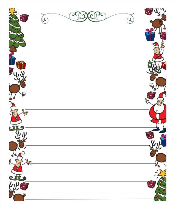 Awesome Free Download Blank Letter To Santa Paper PDF With Christmas Letter Template Word Free
