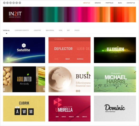 minimalism design studio wordpress template