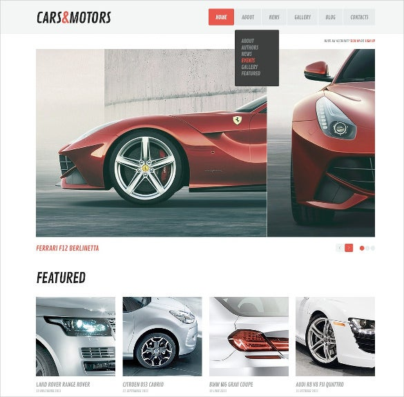 minimalism car wordpress theme