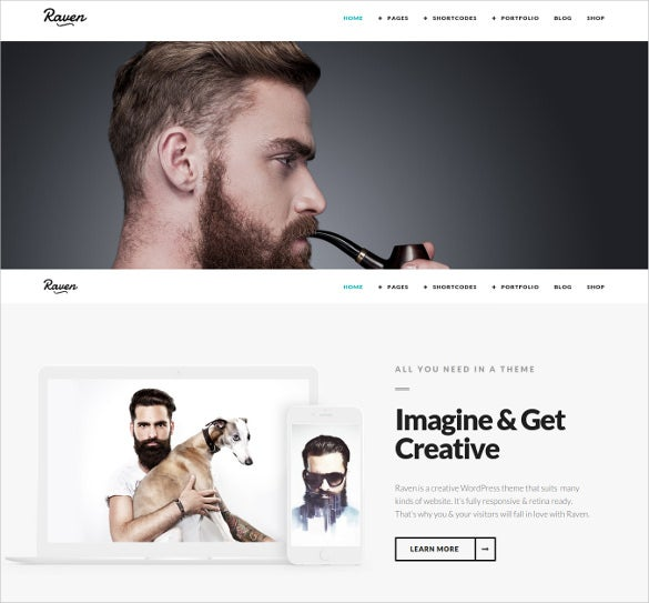 corporate agency minimal wordpress theme