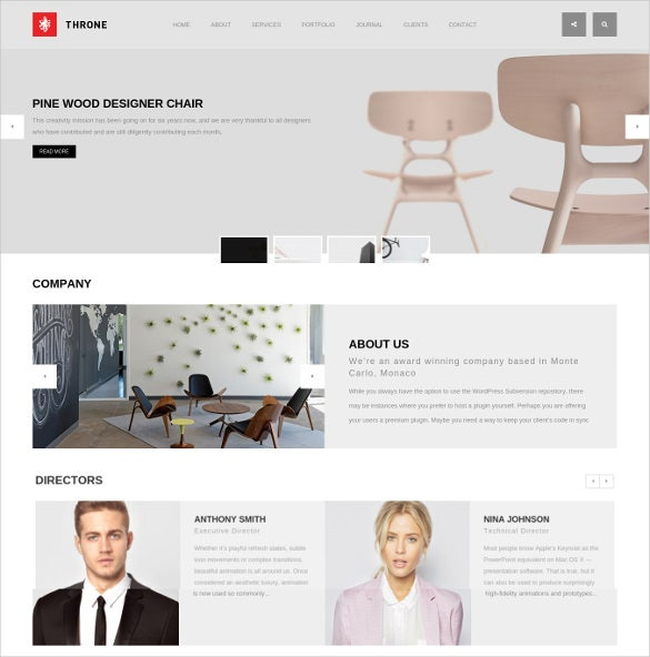 one page minimal wordpress template