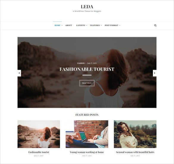 superb minimal wordpress blog theme
