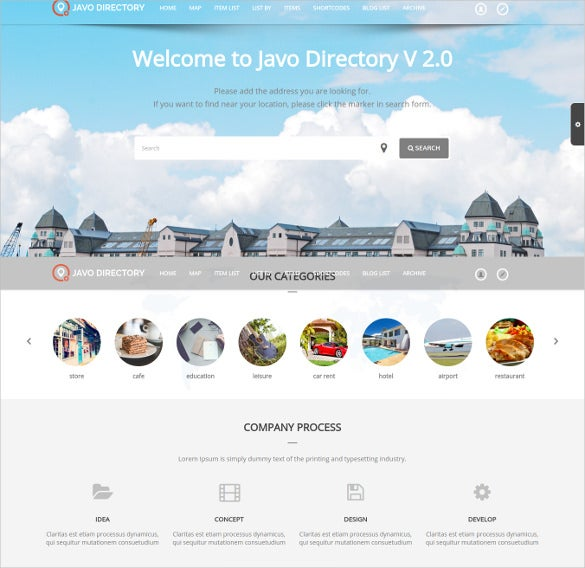 responsive directory wordpress theme