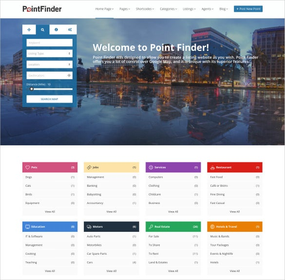 multi category directory wordpress theme