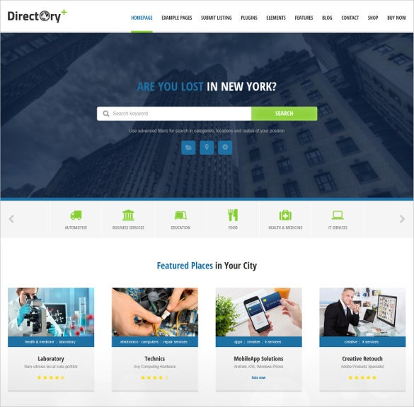 directory portal wordpress template