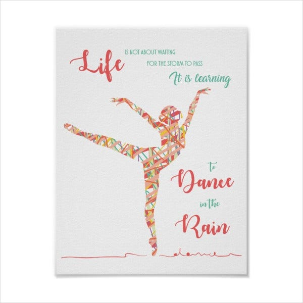 motivational dance class poster