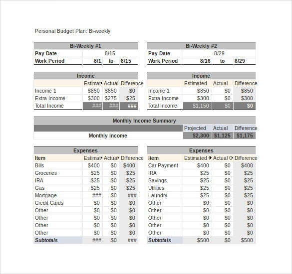 Sample Monthly Budget Simple Monthly Budget Pdf Sample Simple