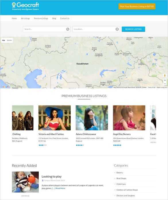 city business directory wordpress theme