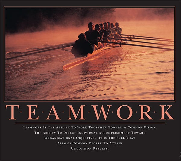 Funny Teamwork Motivational Poster