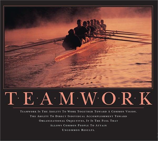 Funny Teamwork Motivational Poster