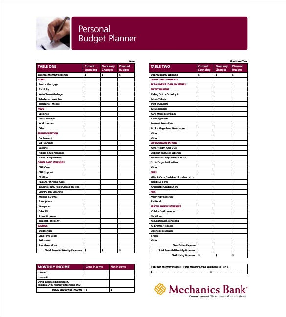 budget planner download