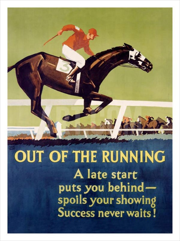 vintage motivational racing poster