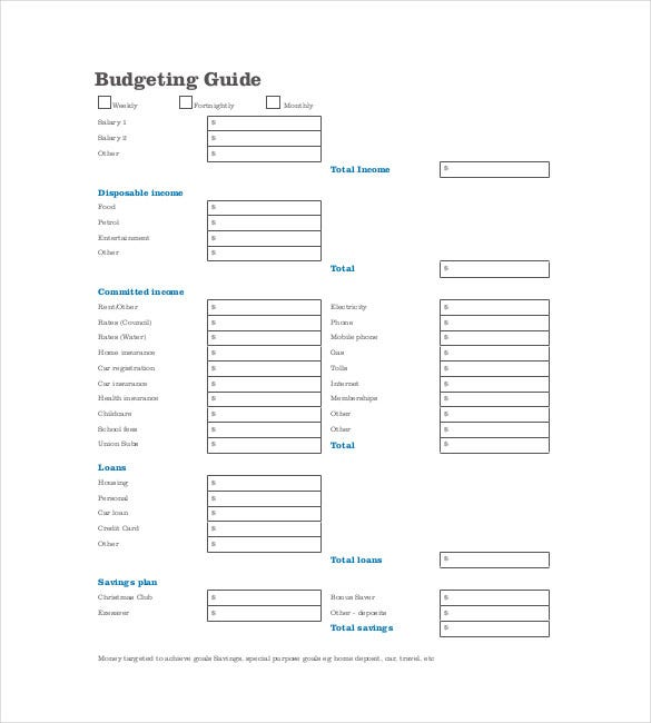 Budget Planner Templates  Free Sample Example Format