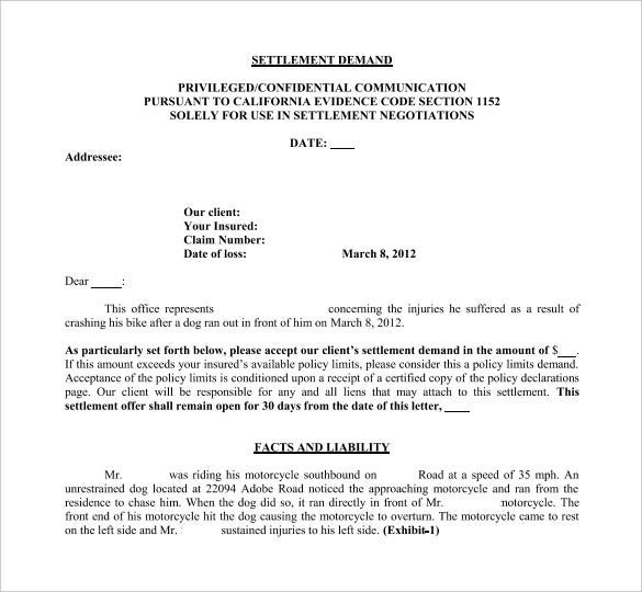 settlement demand letter template pdf free download