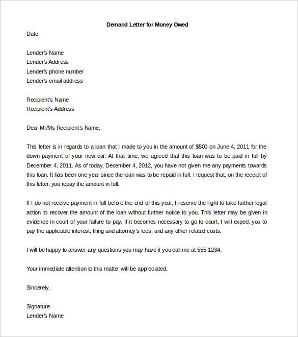 Legal Letter Format Legal Demand Letter Docoments