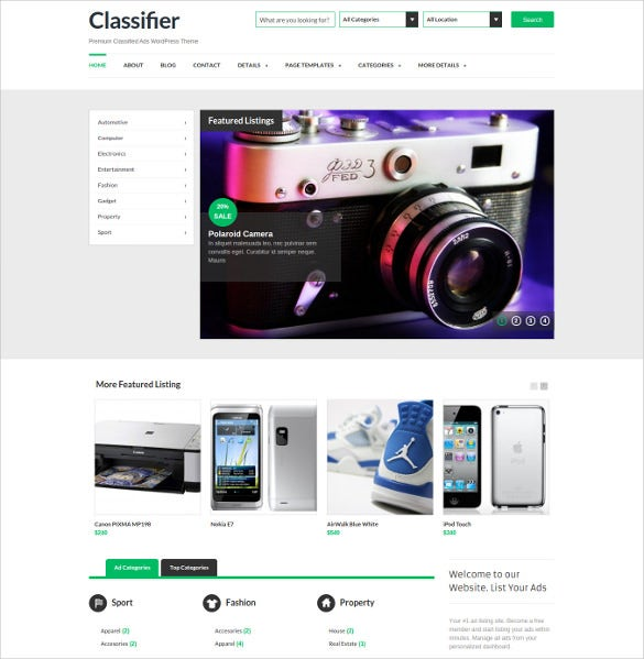 17+ Classified WordPress Themes & Templates | Free & Premium Templates