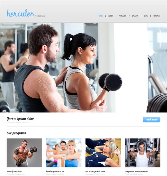0simple fitness wordpress template