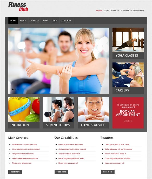 superb fitness responsive wordpress template