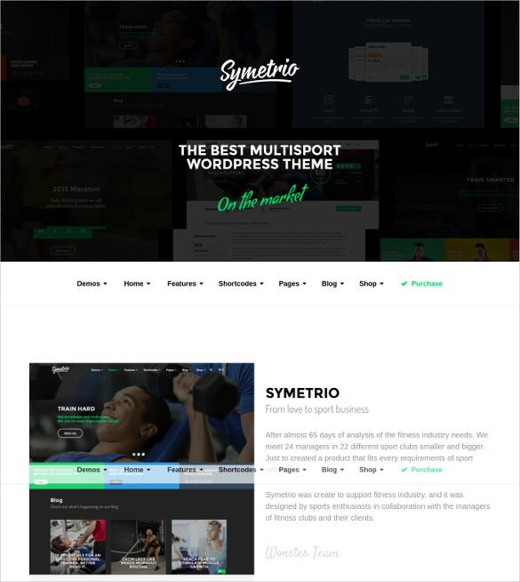 excellent gym fitness wordpress template