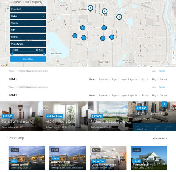 solution for real estate website template