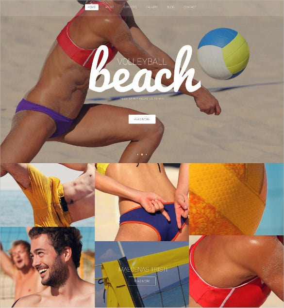 beach volleyball club wordpress template