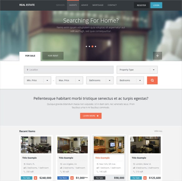 real estate creative html website template