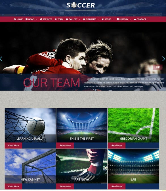soccer sports wordpress template