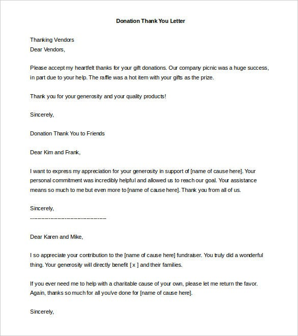 Donation Letter Template   Free Word Pdf Documents  Free