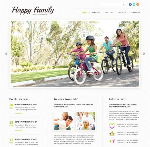 happy family responsive website template