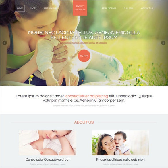 family html website template download