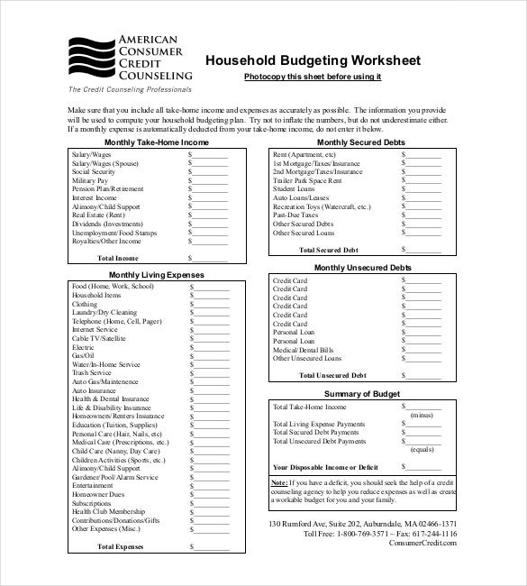 budget tracker template 10 free word excel pdf documents