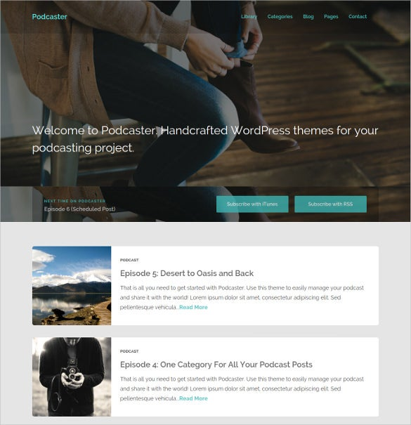 multimedia podcast wordpress theme